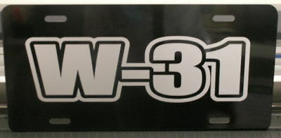 W-31 Engine Sze License Plate Hurst Oldsmobile 442 S Cutlass 350 400 455 Ram Air