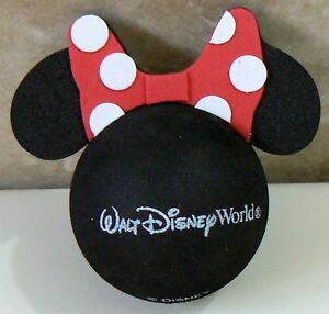 DISNEY-MINNIE-MOUSE-RED-POLKA-DOT-BOW-CAR-ANTENNA-TOPPER-BALL-NEW-o-o