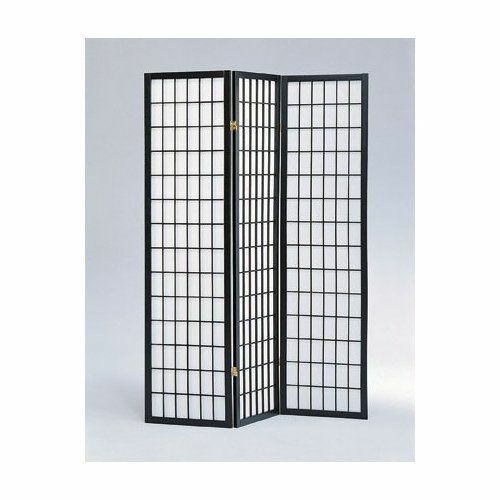 Legacy Decor 4 Panel Shoji Screen Room Divider Black eBay