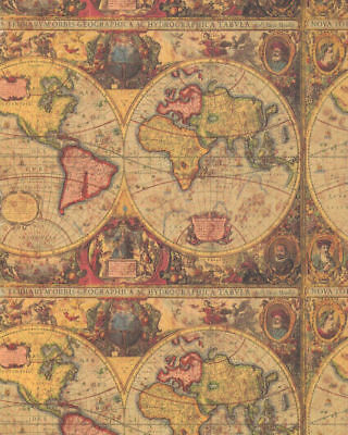 Antique map heavy gift wrapping paper 30 in x 6 ft sheet ebay picture 1 of 1 gumiabroncs Image collections
