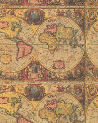 Antique map heavy gift wrapping paper 30 in x 6 ft sheet ebay picture 1 of 1 gumiabroncs Gallery