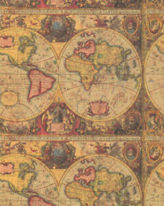 ANTIQUE-MAP-GIFT-WRAPPING-PAPER-Large-30-039-Roll