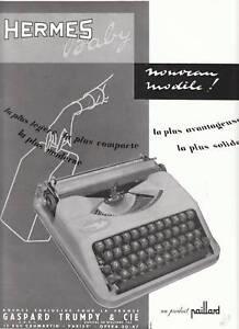publicit ancienne machine crire herm s 1955 ebay. Black Bedroom Furniture Sets. Home Design Ideas