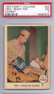 1959-Fleer-Ted-Williams-Set-46-Ready-For-Combat-PSA-7