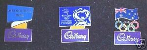 SET OF 2000 OLYMPIC PINS - CADBURY CHOCOLATE