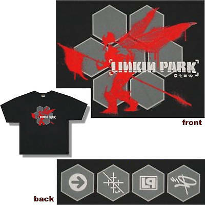 LINKIN PARK! HEXAGON SOLDIER BLACK T-SHIRT X-LARGE NEW