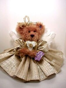 GOLDIE-Annette-Funicello-mohair-teddy-bear-angel