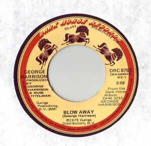 GEORGE-HARRISON-45-Blow-Away-1979-16-USA-ORIGINAL-on-DARK-HORSE-Beatles