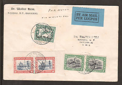 South West Africa Sc 108 C3 On 1931 Air Mail Cover To Bahamas