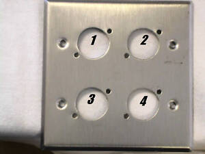 Leviton-S-S-Wallplate-Double-Gang-Four-034-D-034-Holes