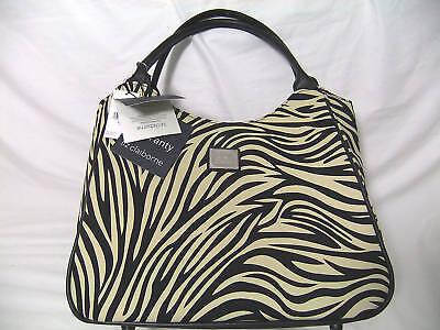 Liz Claiborne $200 Zebra Animal Print Handbag Tote
