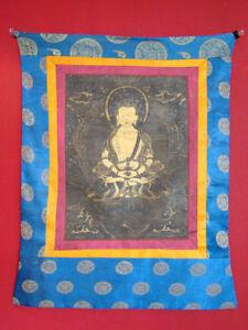 Antik-Original-Thangka-Asiatika-Tibet-handbemalt-Thanka