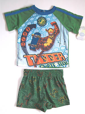 Disney Tigger Skateboard 2pc Shorts Pajamas Tiger Sleepwear Set 12 Mo