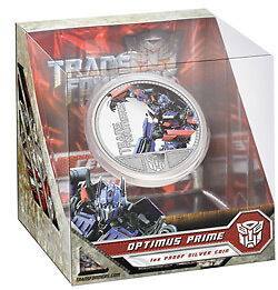 2009 $1 Transformers Optimus Prime 1oz Silver Proof Coin