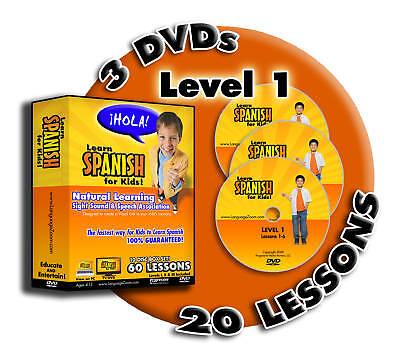 Образовательная программа Learn to Speak Spanish for Kids, 20 Lessons on 3 DVDs