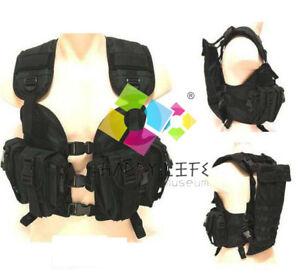 Black Army Heavy Duty Camo Combat Assault Vest System