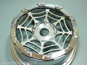 2X Rear SPIDER'S CNC Alloy Wheel Rims HPI Baja 5B Tires KM Rovan 1 5 Gas