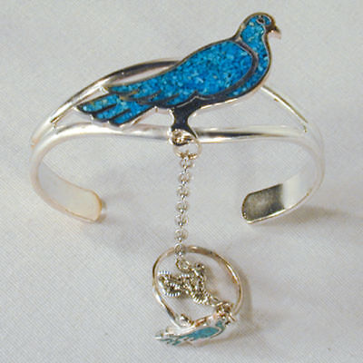 Dove Slave Bracelet 74 Chain Ring Jewelry Bird Silver Bird Womens Lady