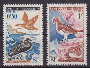 SAINT-PIERRE-et-MIQUELON-1963-BIRDS-MNH-CV-6-7-5