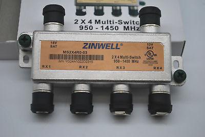ZINWELL 2x4 SATELLITE Multi Switch 4 OUTPUT MS2X4R0-03 directv legacy technology