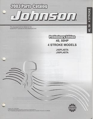 2003 Johnson Outboard 40, 50hp 4-stroke Parts Catalog