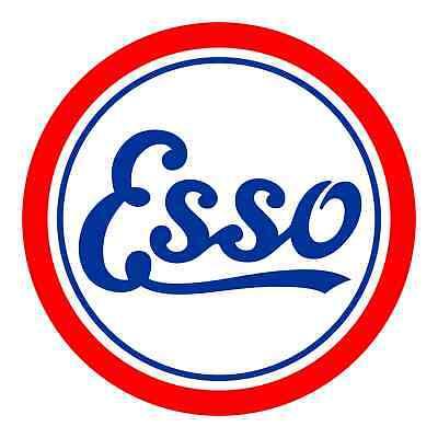 Esso Gas Vinyl Cut Sticker Decal 18 Vintage Full Color