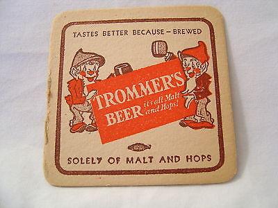 Trommer 39 s beer cardboard coaster vintage original old ebay - Cardboard beer coasters ...