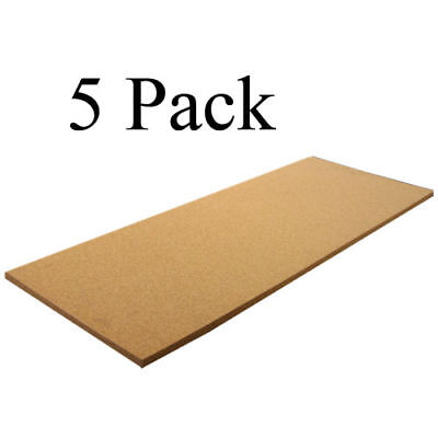 "12"" X 36"" X 3/16"" PLAIN CORK SHEETS PACK OF 5"