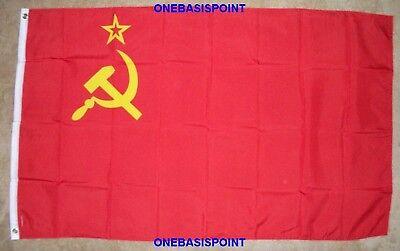 3'x5' Ussr Flag Communist Soviet Union Russia Hammer Sickle Socialist 3x5