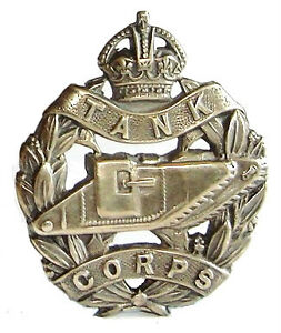 WW1-THE-TANK-CORPS-CAP-BADGE-SOLID-SILVER