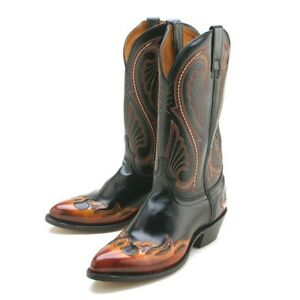 Laredo Chicago Mens Flame Leather Cowboy Boots D, EW | eBay