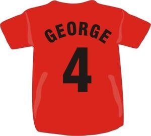 Personalised Printed Childs Name Football T Shirt Team