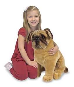 Melissa-amp-and-Doug-Plush-Animal-Stuffed-Dog-New-PUG