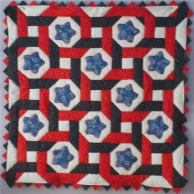 Stars Intertwined Patriotic Baby Quilt Kit With Pattern