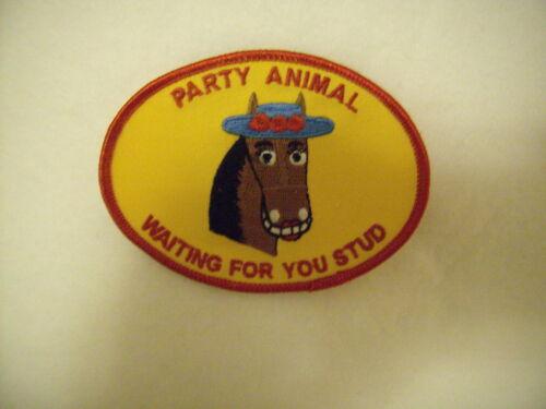 New Women BrownHorse Party Animal Waiting 4U Stud Patch