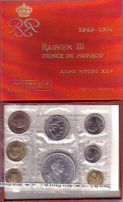 Kursmünzensatz Monaco 1974 - originalverpackt, selten
