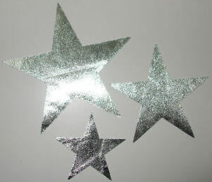 3 star silv mirror fabric iron on hotfix patch transfer ebay for Mirror 18 patch