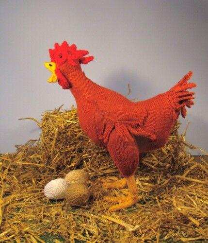 Printed Instructions-hattie Hen & Eggs Toy Chicken Knitting Pattern ...