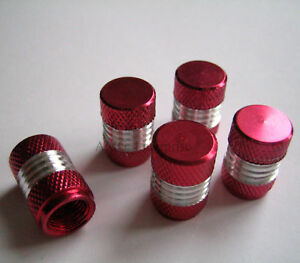 Red-Silver-Alloy-Dust-Valve-Caps-for-MG-MGF-TF-ZR-ZS-ZT-Rover-25-45-75-100-BRM