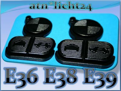 2x BMW Key Three Buttons Keypad Rubber Spare key E36 E38 E39 E46 Z3 1A