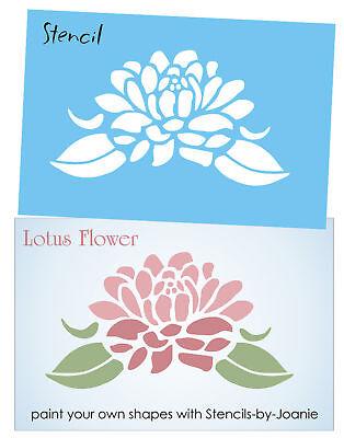 Stencil 8 Large Lotus Flower Asian Spiritual Life Summer Garden Floral Art Sign