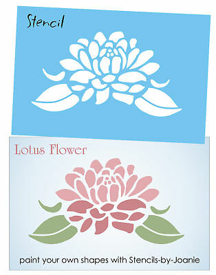 Stencil 8 Large Lotus Flower Asian Spiritual Life Summer Garden Floral Art Sign