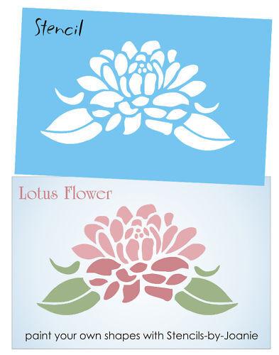 Stencil 6 Lotus Flower Asian Spiritual Life Art Summer Garden Home Decor Signs