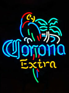 CORONA-EXTRA-PARROT-BEER-BAR-NEON-LIGHT-SIGN-AL006