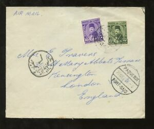 EGYPT-1949-COVER-10M-17M-SHIP-PORT-SAID-PAQUEBOT