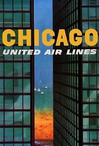Vintage-Travel-POSTER-Chicago-Deco-Home-Art-Decor-1387