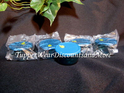 Tupperware New Set of 5 MINI Minature VENT N Serve Magnets Peacock Blue