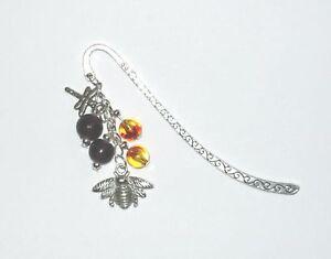Pretty-tibetan-silver-bumble-bee-bag-charm-bookmark