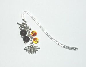 Pretty-tibetan-silver-bumble-bee-bag-charm-bookmark