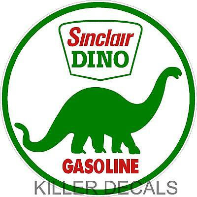 """(SINC-3) 12"""" OLDER SINCLAIR GASOLINE DECALS GAS AND OIL"""